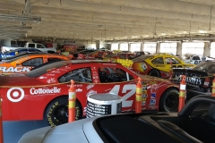 NASCAR racers had to share garage with points cars