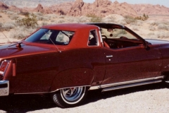 Chuck Cochren Henderson, NV 77 LJ, Original Owner, Modified to look like a 50's cruiser, Lakes Pipes, Fender Skirts, Dual Rear Antenna, Continental Kit, Hood Tach, Chrome Rally II Wheels