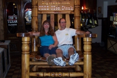 Jim & Dee at steak house