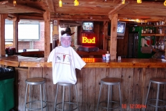 Ray sat at the Bar all by himself.