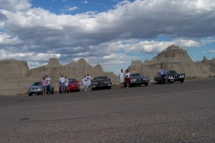 Bad Lands National Park, group with cars