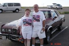 Chuck & Eva Cochren pose in the Bad Lands