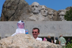 Ray is checking out Mount Rushmore too.