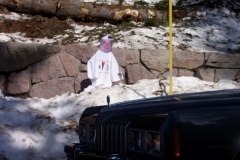 Ray got to see snow in Yellowstone park